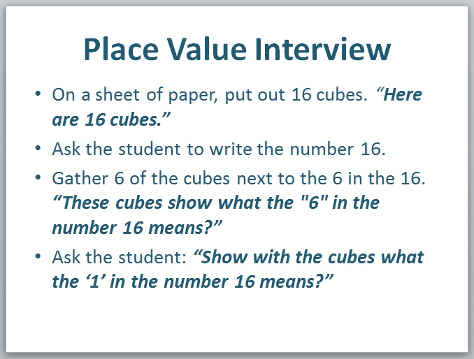 Place Value: How to Assess Students' Understanding | Marilyn Burns ...