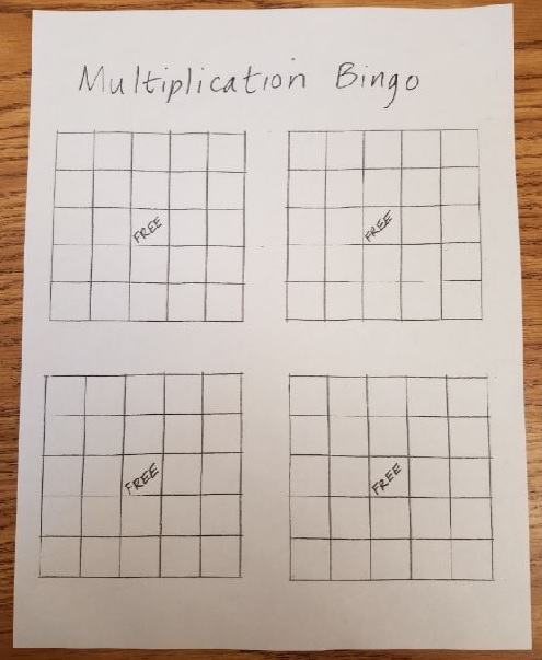 photograph relating to Multiplication Bingo Printable named Multiplication Bingo Marilyn Burns Math Website